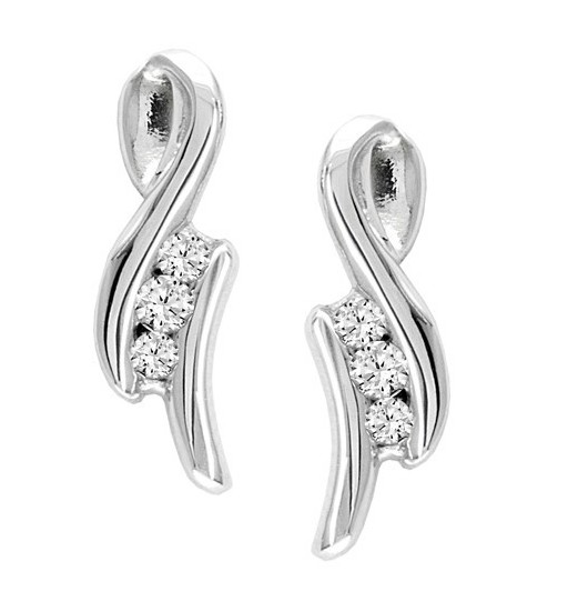 Diamond Earrings 0.35 Ct Natural Certified Solid Gold Wedding Anniversary