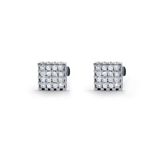 0.72 Ct Natural Untreated Diamond Solid Gold Certified Cufflink