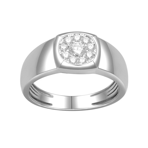 0.6 Ct Natural Untreated Diamond Solid Gold Men'S Ring Certified