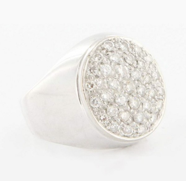 0.85 Ct Natural Untreated Diamond Solid Gold Men'S Ring Certified