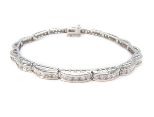 Beautiful Diamond Bracelets 4 Ct Natural Untreated Solid Gold Natural Certified