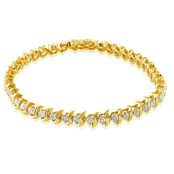 Eternity Bracelets 4 Ct Natural Untreated Diamond Solid Gold Natural Certified