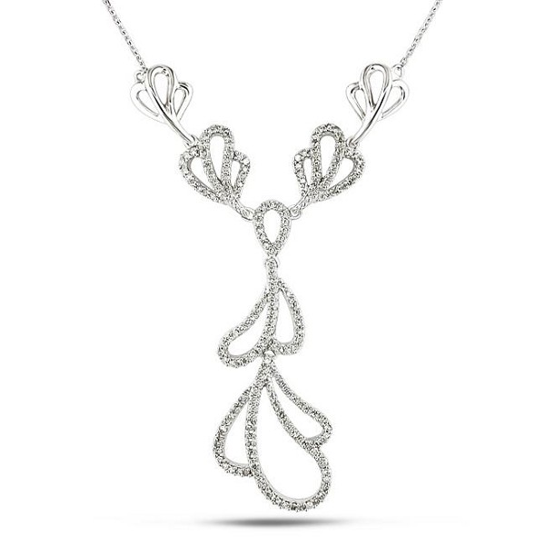 Necklace for Womens 3.15 Ct Natural Diamond Solid White Gold Wedding Engagement Certified