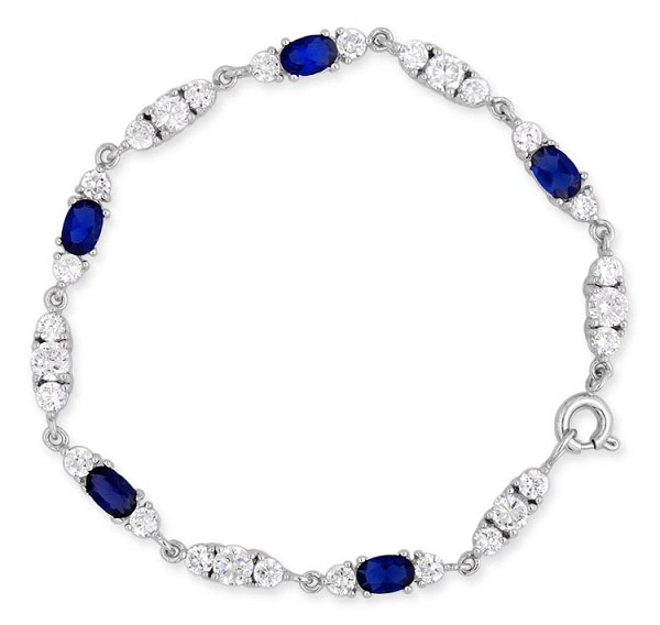 Sapphire Bracelet 4.7 Ct Natural Diamond Gemstone Solid Gold Natural Certified