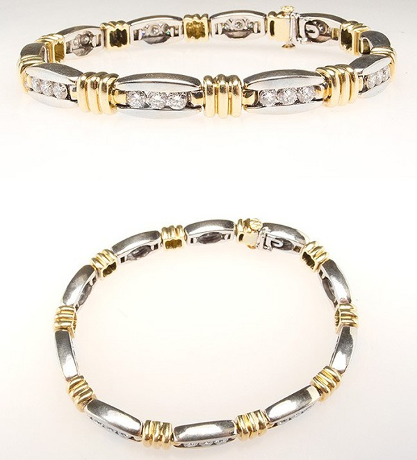 Beautiful Diamond Bracelets 1.8 Ct Natural Untreated Solid Gold Natural Certified