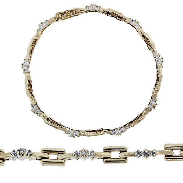 Eternity Bracelets 0.8 Ct Natural Untreated Diamond Solid Gold Natural Certified