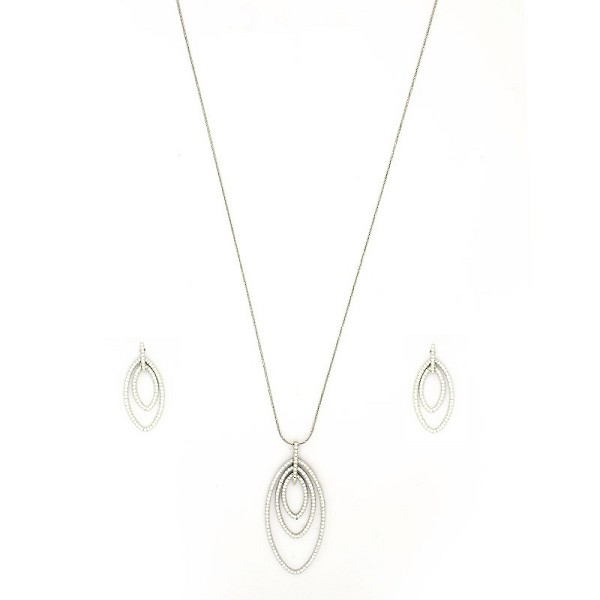 Small Diamond Necklace Set 3.4 Ct Solid Gold Natural Certified