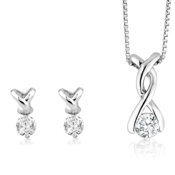 Small diamond pendant set 05 ct solid gold natural certified aloadofball