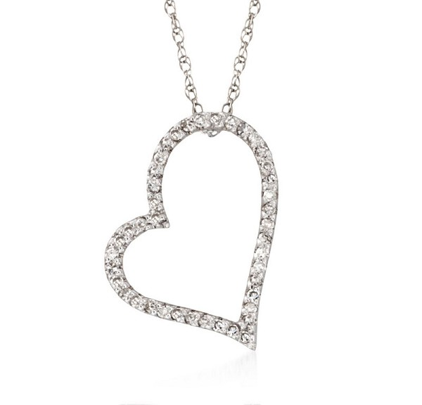 Fine Necklace & Pendant 0.4 Ct Diamond Solid Gold Natural Certified