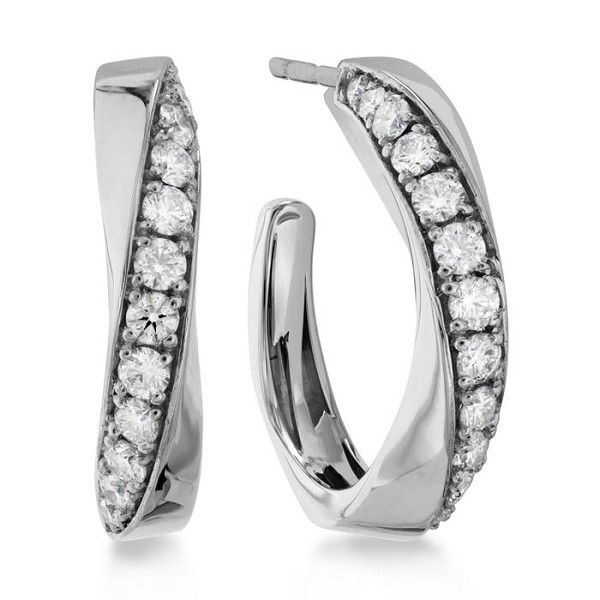 Hoops Diamond Earrings 0.5 Ct Untreated Natural Certified Solid Gold