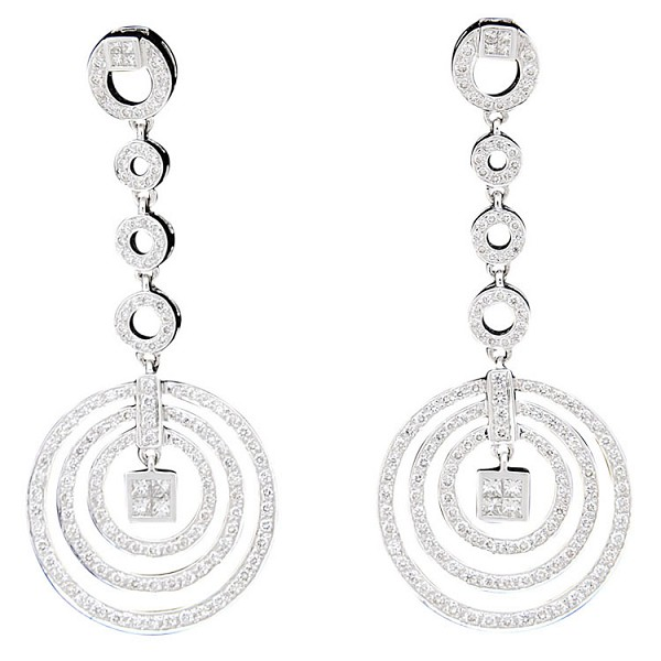 Drop Dangle Earrings 3.25 Ct Diamond  Natural Certified Solid Gold