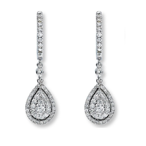 14910a15d Dangle Earrings 2.2ct Diamond Wedding Natural Certified Gold