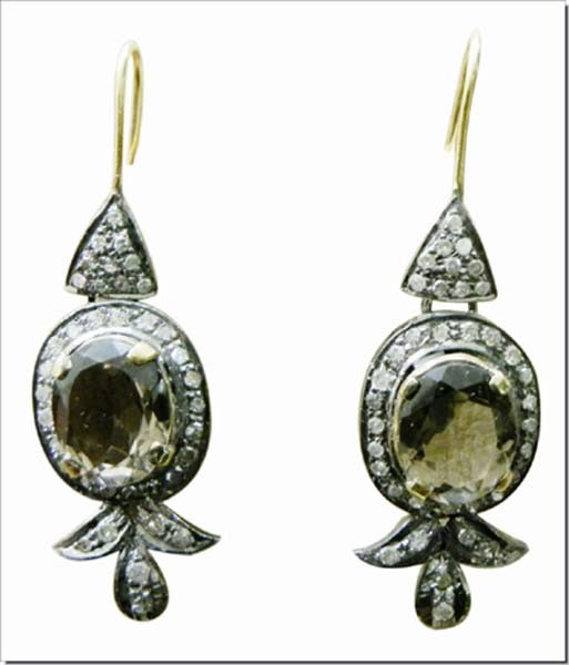 Victorian Diamond Earrings 1.8 Ct Uncut Natural Certified Diamond 925 Sterling Silver Weekend