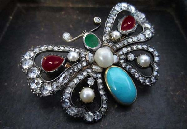 Bridal Brooches 1.15 Ct Uncut Sterling Silver Vintage & Antique Jewelry Natural Certified