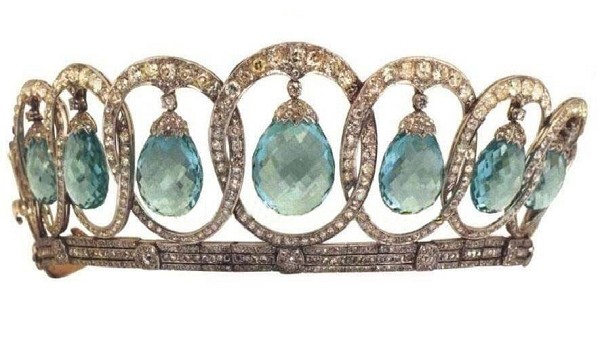 Tiara For Sale 48.00 Carat Natural Rose Cut Certified Diamond Topaz Sterling Silve Head Pieces