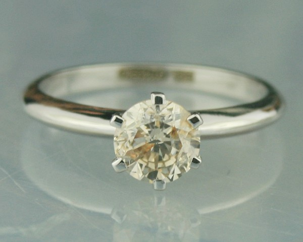 1.02 Ct Natural Solitaire Diamond Gold Ring Engagement Wedding