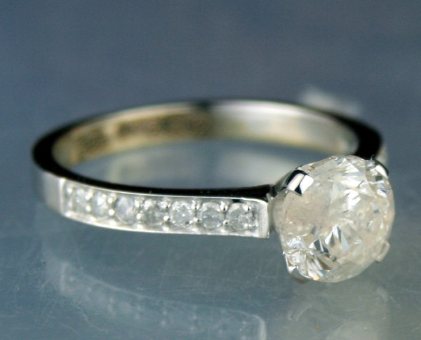 Wedding Engagement Ring 1.73 Ct. Center 1.51 Ct. Solitaire Solid Gold Natural Certified