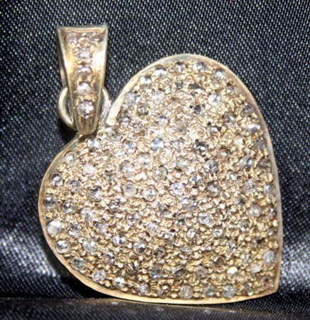 Antique Pendants 2.27 Ct Natural Certified Diamond 925 Sterling Silver Heart Special Occasion