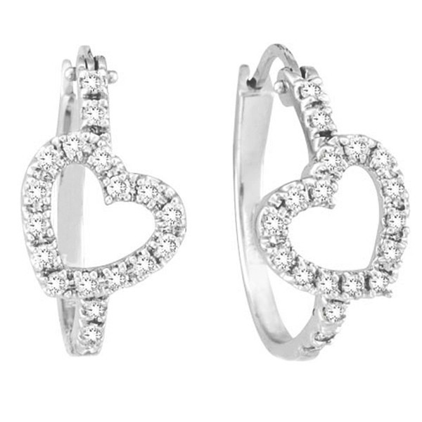 Hoops Diamond Earrings 0.65 Ct Natural Certified Solid White Gold