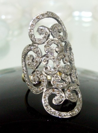 2.00 Ct Natural Diamond Antique Reproduction Wedding Ring
