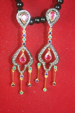 Vintage Drop Earrings 1.55 Ct & Natural Certified Diamond Everyday