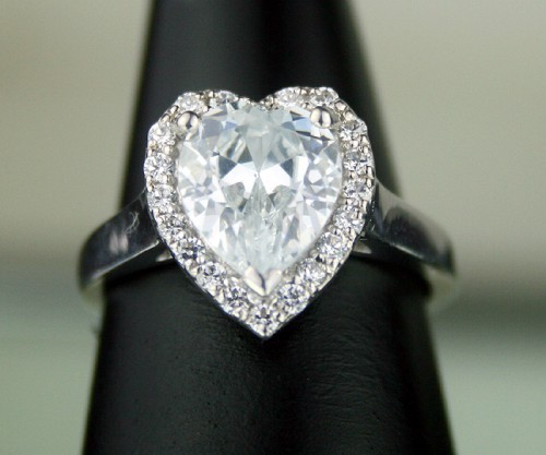 Diamond Ring For Sale 4.28 Ct White Pear Shape Diamond Sterling Silver Wedding Solitaire