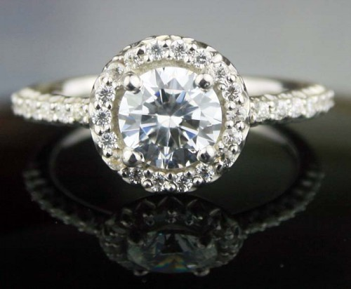 Ring Design 2.69 Ct Round Shape Diamond Sterling Silver Solitaire Engagement