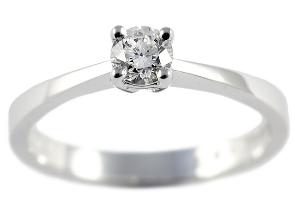 0.30 Ct Diamond Round Shape 14K White Gold Solitaire Ring (Copy) Everyday