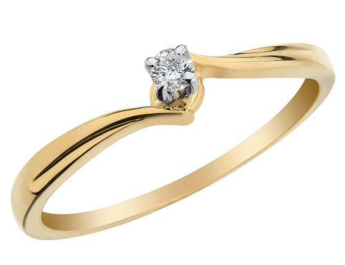 Diamond Ring For Ladies Natural Round Certified Diamond 0.2 Ct Solid Gold  Office Wear