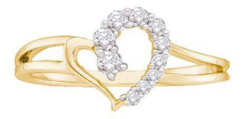 Diamond Ring For Ladies Natural Round Certified Diamond 0.16 Ct Solid Gold  Festive
