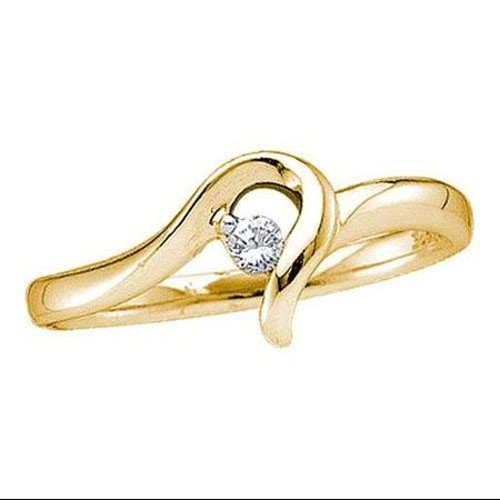 Diamond Ladies Ring Natural Round Certified Diamond 0.11 Ct Solid Gold  Party