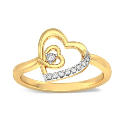 Diamond Ring Designs For Female Natural Round Certified Diamond 0.08 Ct Solid Gold  Office Wear
