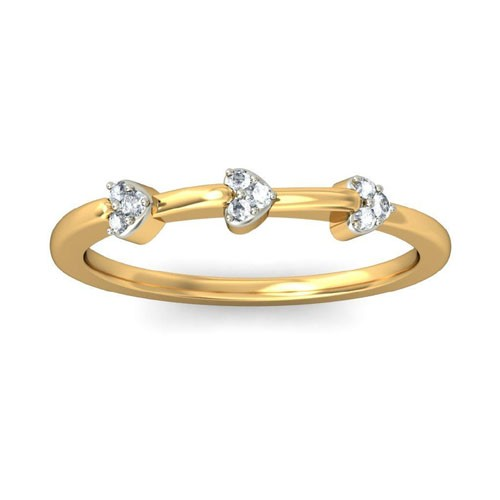Diamond Ring Designs For Female Natural Round Certified Diamond 0.1 Ct Solid Gold  Everyday