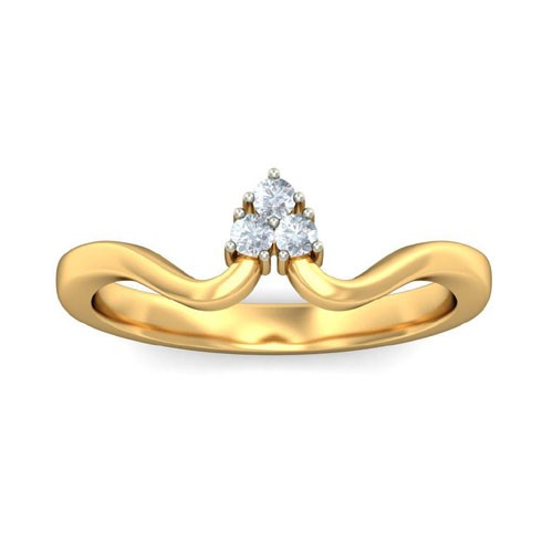 Diamond Ladies Ring Natural Round Certified Diamond 0.09 Ct Solid Gold  Weekend