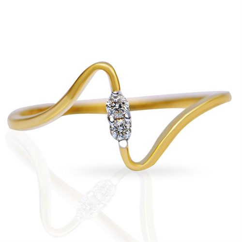Diamond Ring Designs For Female Natural Round Certified Diamond 0.05 Ct Solid Gold  Workwear