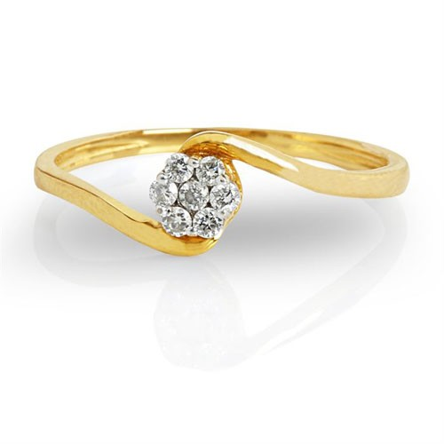 Best Diamond Rings Natural Round Certified Diamond 0.11 Ct Solid Gold  Festive