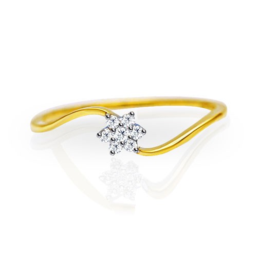 Womens Diamond Rings Natural Round Certified Diamond 0.1 Ct Solid Gold  Everyday