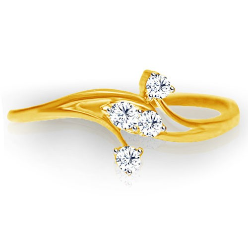 Best Diamond Rings Natural Round Certified Diamond 0.08 Ct Solid Gold  Everyday