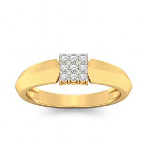 Diamond Ladies Ring Natural Round Certified Diamond 0.14 Ct Solid Gold  Weekend