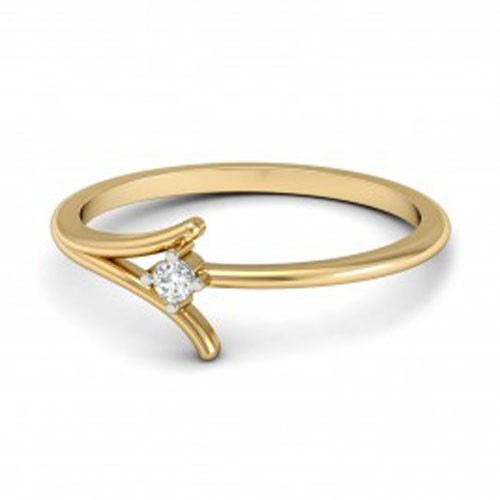 Diamond Ring Designs Natural Round Certified Diamond 0.07 Ct Solid Gold  Weekend