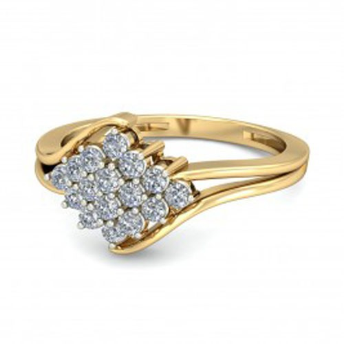 Diamond Ring Designs For Female Natural Round Certified Diamond 0.16 Ct Solid Gold  Weekend