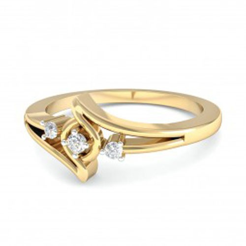Diamond Ring For Ladies Natural Round Certified Diamond 0.09 Ct Solid Gold  Party