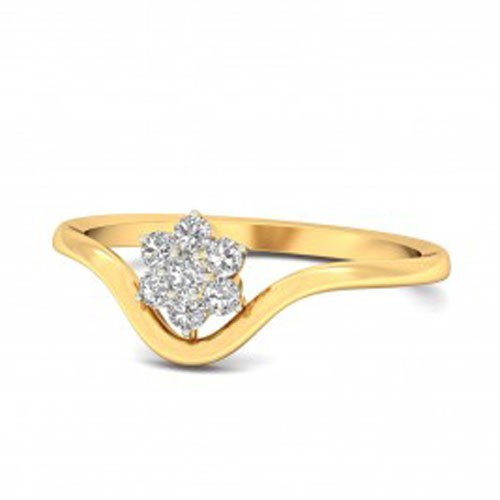 Best Diamond Rings Natural Round Certified Diamond 0.17 Ct Solid Gold  Weekend