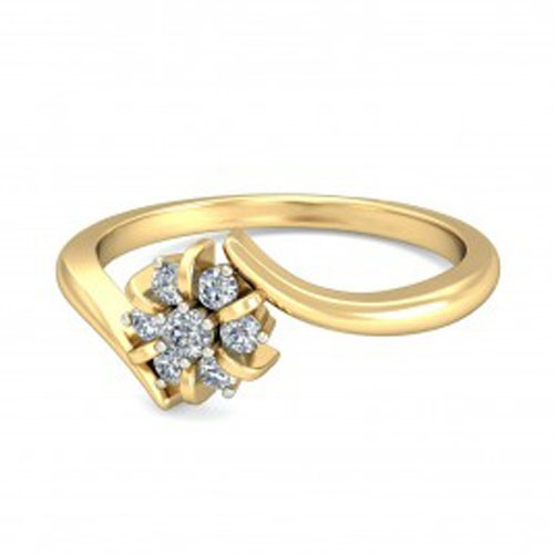 Buy Diamond Ring Online Natural Round Certified Diamond 0.14 Ct Solid Gold  Workwear