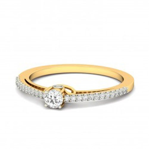 Buy Diamond Ring Online Natural Round Certified Diamond 0.4 Ct Solid Gold  Workwear