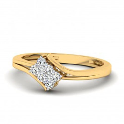 Ladies Diamond Ring Natural Round Certified Diamond 0.15 Ct Solid Gold  Special Occasion
