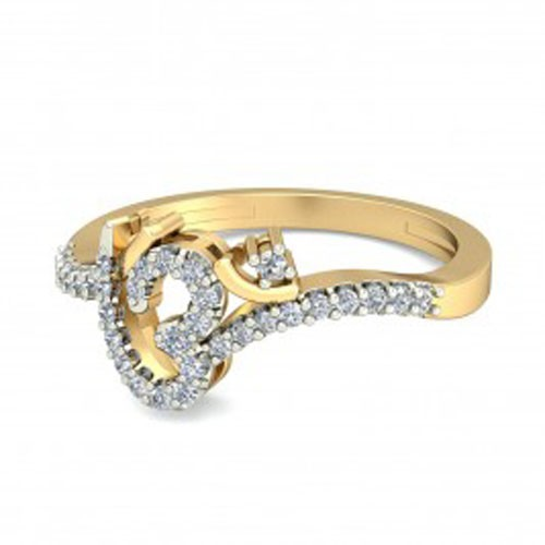 Diamond Ring For Ladies Natural Round Certified Diamond 0.35 Ct Solid Gold  Party