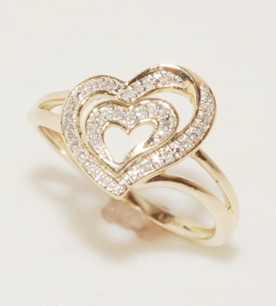 0.50 Ct Natural Diamond 14K Solid Gold Heart Shape Wedding Ring