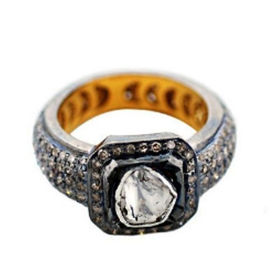 Antique Vintage Engagement Rings 3.4 Ct Natural Certified Diamond 925 Sterling Silver Festive