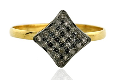 Antique Looking Engagement Rings 0.5 Ct Natural Certified Diamond 925 Sterling Silver Office Wear